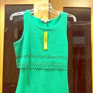 Gianni Bini, green form fitting, sleeveless